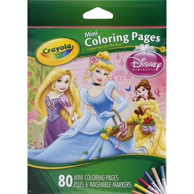 Crayola Coloring Pages, Mini, Disney Princess