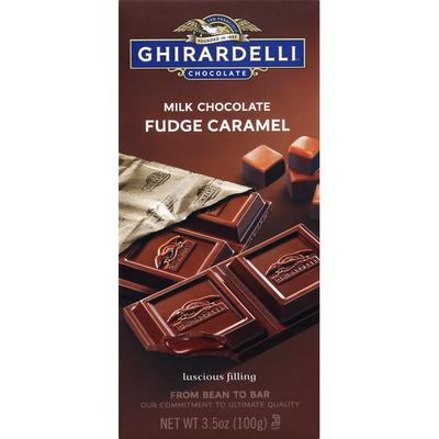 Ghirardelli Chocolate Milk Chocolate, Fudge Caramel