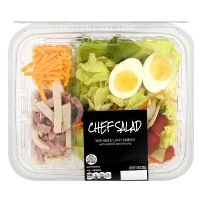 Ahold Chef Salad with Ham & Turkey Julienne with Buttermilk Ranch Dressing