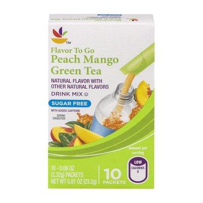 SB Flavor To Go Peach Mango Tea Drink Mix Packets - 10 CT