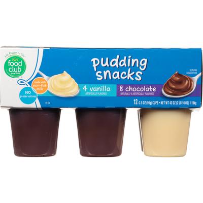 Food Club Pudding Snacks, Vanilla/Chocolate