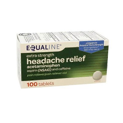 Equaline Added Strength Headache Formula Acetaminophen Aspirin And Caffeine