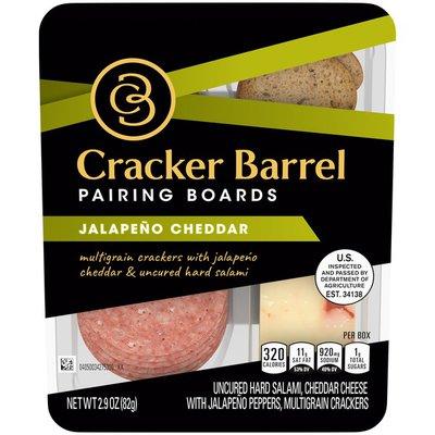 Cracker Barrel Jalapeño Cheddar Cheese, Uncured Hard Salami & Multigrain Crackers