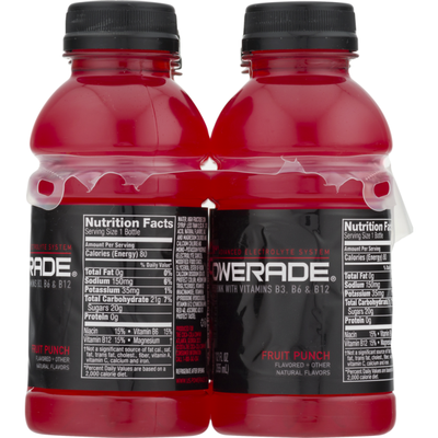 Powerade Sports Drink, Fruit Punch Flavored, 6 Pack