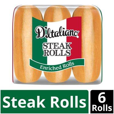 D'Italiano Enriched Steak Rolls