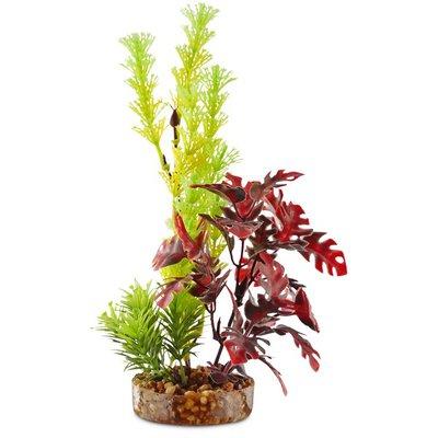 Imagitarium Yellow & Red Fiesta Tropical Plastic Aquarium Plant