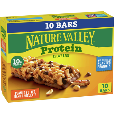 Nature Valley Chewy Granola Bars, Protein, Peanut Butter Dark Chocolate, 10 Bars