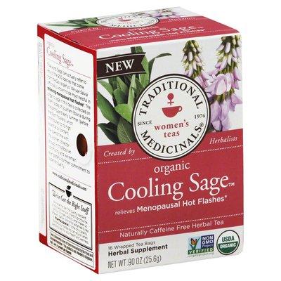 Traditional Medicinals Organic Cooling Sage, Caffeine Free Herbal Tea