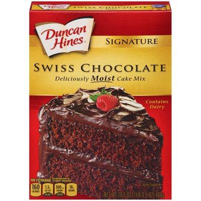 Duncan Hines Signature Swiss Chocolate Cake Mix 16 5 Oz Instacart