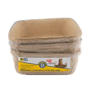 Pet Zone Disposable Litter Box & Litter Box Liner odorLess - 3 CT