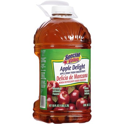 Special Value Apple Delight from Concentrate Apple Drink