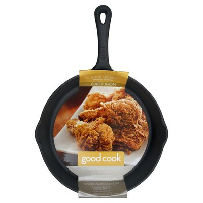 GoodCook Skillet, Cast Iron, 9.5 In