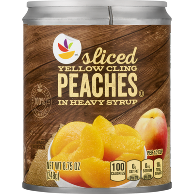 SB Sliced Peaches, Yellow Cling, In Heavy Syrup