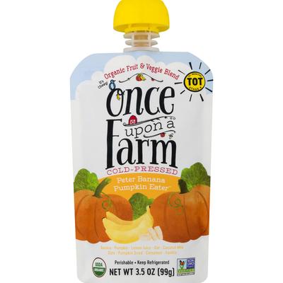 Once Upon a Farm Fruit & Veggie Blend, Organic, Peter Banana Pumpkin Eater, Stage 4