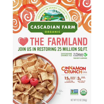 Cascadian Farm Cereal, Cinnamon Crunch