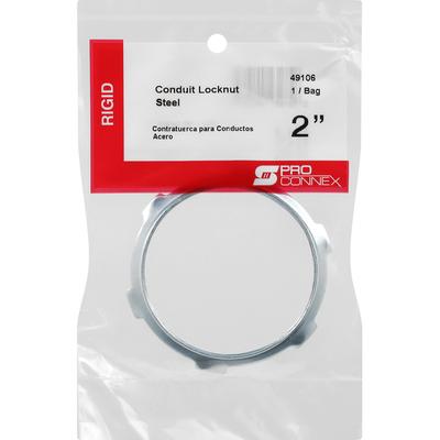 Pro Connex Steel Locknut, Conduit, Rigid, 2 Inches