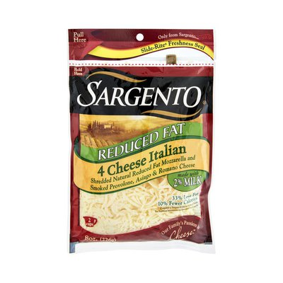 Sargento® Reduced Fat 4 Cheese Italian Shredded Cheese