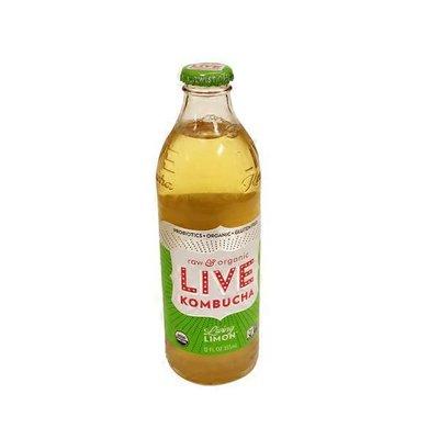 Live Beverages Lemon Lime Kombucha Sparkling Probiotic Tea