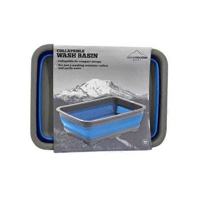 Alpine Mountain Gear Blue Collapsible Wash Basin