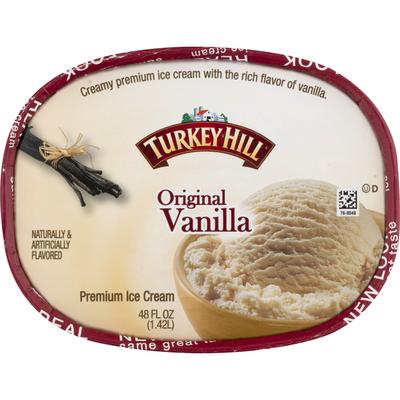 Turkey Hill Premium Ice Cream, Original Vanilla