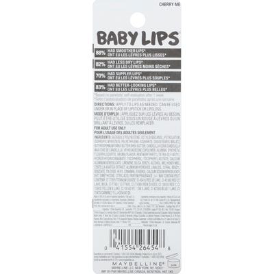 Maybelline Lip Balm, Moisturizing, Cherry Me 15