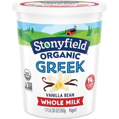 Stonyfield® Organic Greek Vanilla Bean Whole Milk Yogurt