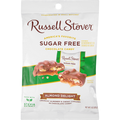 Russell Stover Chocolate Candy, Almond Delight, Sugar Free