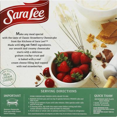 Sara Lee Cheesecake, Strawberry, Classic