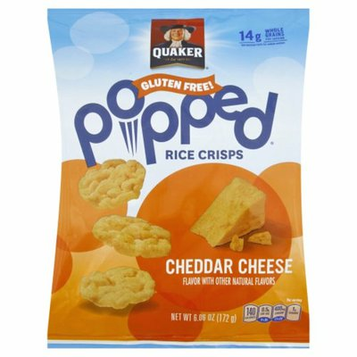 Quaker Popped Cheddar Cheese Rice Crisps