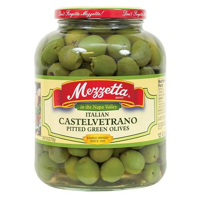 Mezzetta Pitted Green Olives Italian Castelvetrano