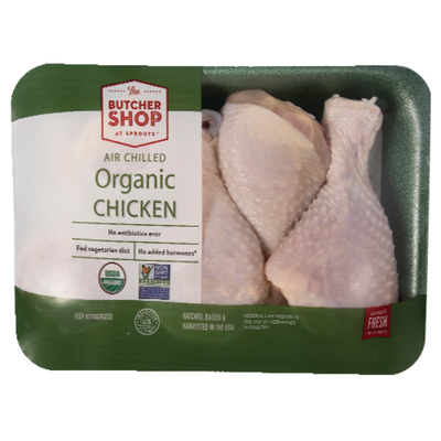 Sprouts Organic Chicken Drumsticks, Package