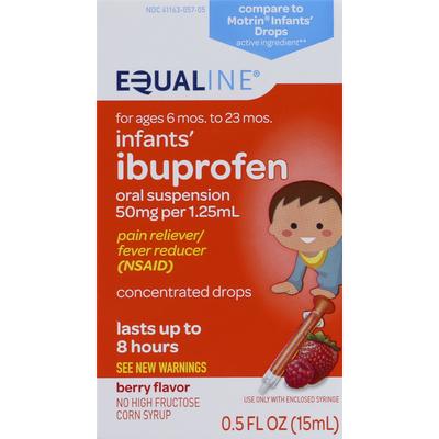 Equaline Ibuprofen, Infants', 50 mg, Oral Suspension, Berry Flavor