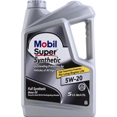 Mobil Motor Oil, Full Synthetic, 5W -20