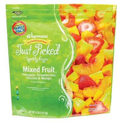 Wegmans Food You Feel Good About Just Picked and Quickly Frozen Mixed Fruit, FAMILY PACK