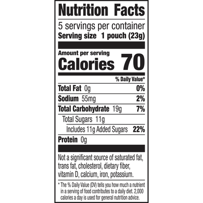 Annie's Organic Mini Bunny Fruit Snacks, Gluten Free, 5 Count