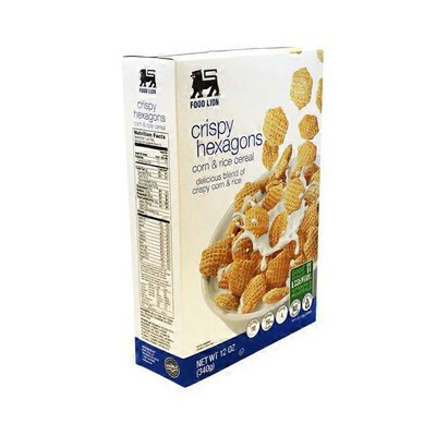 Food Lion Cereal, Corn & Rice, Crispy Hexagons