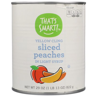 That's Smart! Yellow Cling Sliced Peaches In Light Syrup
