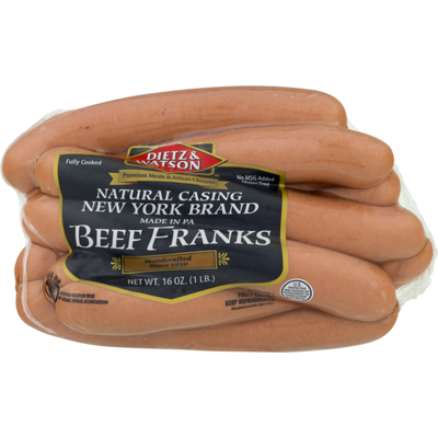 Dietz & Watson Natural Casing New York Brand Beef Franks