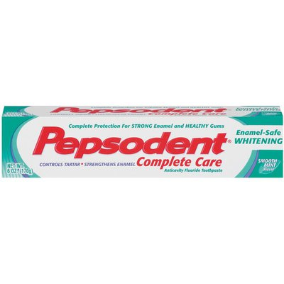 Pepsodent Complete Care Enamel-Safe Whitening Smooth Mint Toothpaste