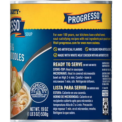 Progresso Rich & Hearty, Chicken and Homestyle Noodles Soup