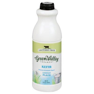 Green Valley Creamery Kefir, Lowfat, Plain
