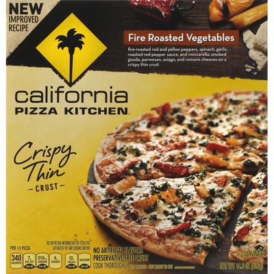 California Pizza Kitchen Pizza, Crispy Thin Crust, Fire Roasted Vegetables