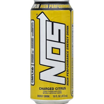 Nos Energy Drink, High Performance, Charged Citrus