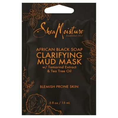 SheaMoisture Mud Mask Packette African Black Soap