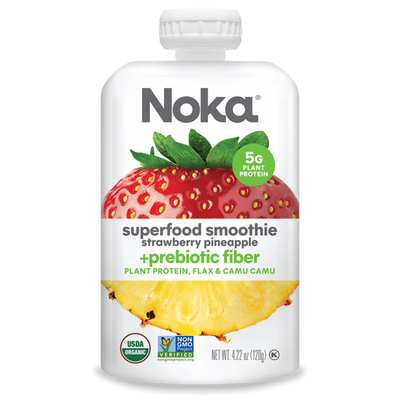 Noka Superfood Fruit Smoothie, Strawberry Pineapple