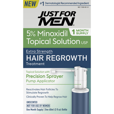 Just For Men Hair Regrowth Treatment, Extra Strength, Unscented