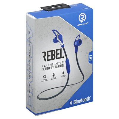 Replay Audio Earbuds, Rebel, Secure-Fit, Wireless