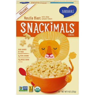 Barbara's Organic Snackimals Vanilla Blast Cereal