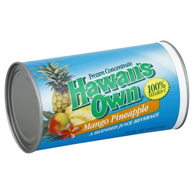 Hawaiis Own Frozen Concentrate, Mango Pineapple