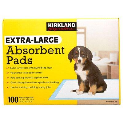"""Kirkland Signature Absorbent Pads, 23""""x30"""", 100 ct"""